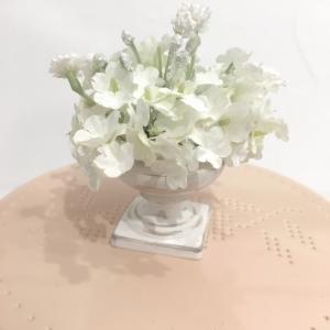 Table poudre vase